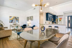 West Grove Pasadena condominiums, 125 Hurlbut Street - Dining and living room