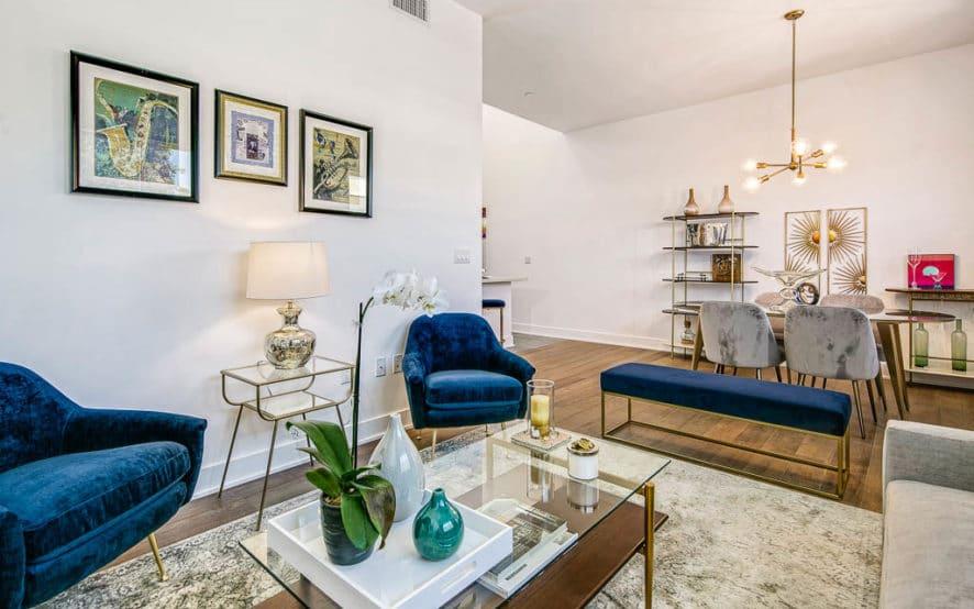 West Grove Pasadena condominiums, 125 Hurlbut Street - Living Room